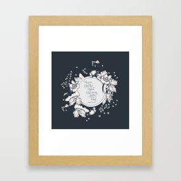 Ye werena the first lass I kissed. But I swear you'll be the last. Jamie Fraser Framed Art Print