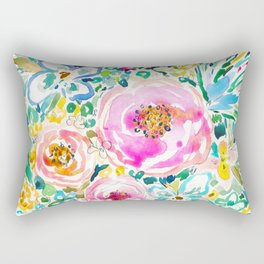 SMELLS LIKE SWEET CHAOS Floral Rectangular Pillow