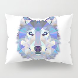 Colorful Wolf Pillow Sham