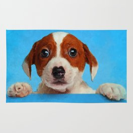 Cute Jack Russell Terrier Puppy Rug