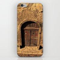 door iPhone & iPod Skins featuring door by Crazy Thoom
