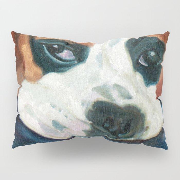 Marley the Boxer Dog Original Portrait Painting Pillow Sham