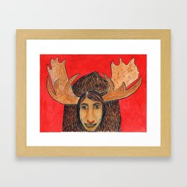 Spirit Animal Moose Framed Art Print