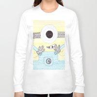minion Long Sleeve T-shirts featuring minion by di yirou