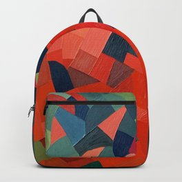 Grün-Rot Otto Freundlich 1939 Abstract Art Mid Century Modern Geometric Colorful Shapes Hard Edge Backpack
