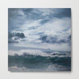 He inoa wehi no Hookipa  Pacific Ocean Stormy Sea Metal Print