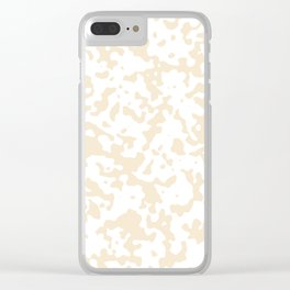 Spots - White and Champagne Orange Clear iPhone Case
