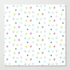 Rosewall buds (on white) Canvas Print