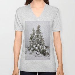 Snow Covered Trees Unisex V-Neck