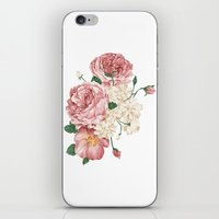 wwe iPhone & iPod Skins featuring Watercolor rose by eARTh