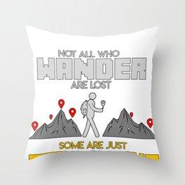 Geocaching Geocacher Treasure Hunting Cache Gift Throw Pillow
