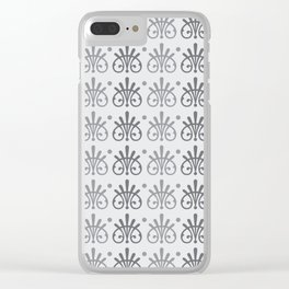 Vintage Victorian Pattern Clear iPhone Case