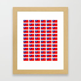 flag of taiwan -formosa,taipei,formosan,Taiwanese,hakka,matsu,台湾,臺灣. Framed Art Print