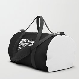 Stronger Tomorrow Gym Quote Duffle Bag