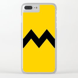 Charlie Brown Stripe Clear iPhone Case