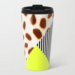Cheetah Leo stripe and neon Travel Mug