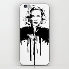 Avengers in Ink: Black Widow iPhone & iPod Skin