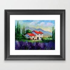 The beauty of Provence Framed Art Print