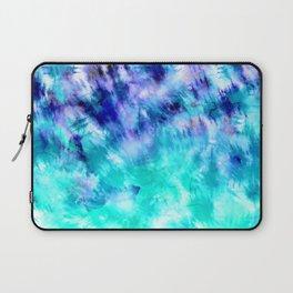 modern boho blue turquoise watercolor mermaid tie dye pattern Laptop Sleeve