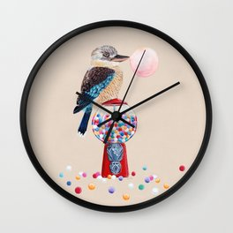 Kookaburra Gumball Machine Wall Clock
