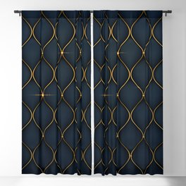 Luxurious background with golden shapes Blackout Curtain