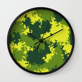 Camouflage jungle 2 Wall Clock