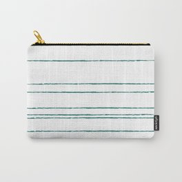 Loose Stripes in Teal Carry-All Pouch