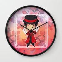 subaru Wall Clocks featuring Chibi Subaru Sumeragi by Neo Crystal Tokyo