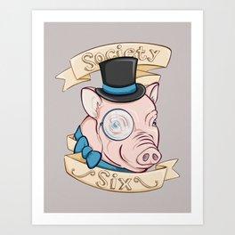 Gentleman Pig (S6 Tee) Art Print