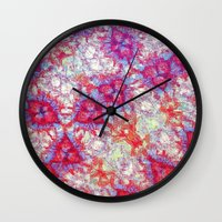 dna Wall Clocks featuring DNA by MonsterBrown