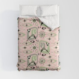 Siamese Cat Abstract on Pink Comforters