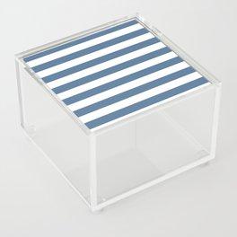 Blue and White Stripes Acrylic Box