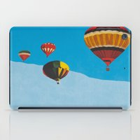 hot air balloons iPad Cases featuring Four Hot Air Balloons by Shelley Chandelier