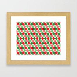 Holiday Hexies Framed Art Print