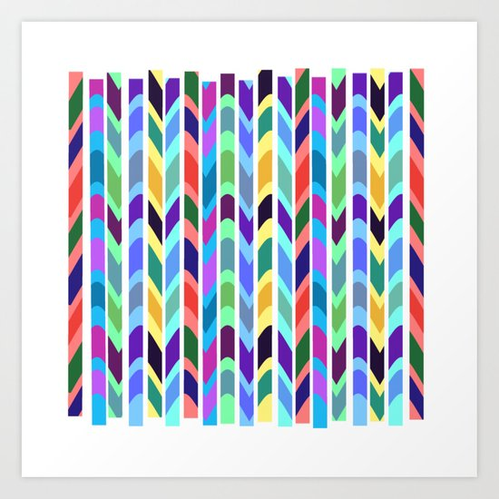 Waves and stripes Art Print