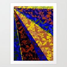 Aztec Geometric Beam Art Print