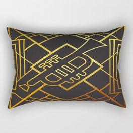 Art Deco Trumpet Rectangular Pillow