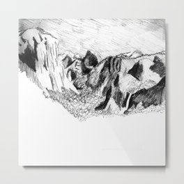 Yosemite Valley from Inspiration Point Metal Print
