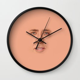Nic cage face Wall Clock