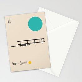 Farnsworth House, Ludwig Mies van der Rohe, Minimal Architecture Bauhaus Design Stationery Cards