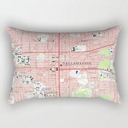 Tallahassee Florida Map (1970) Rectangular Pillow