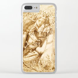 """Dante Gabriel Rossetti """"King Arthur and the Weeping Queens"""" Clear iPhone Case"""
