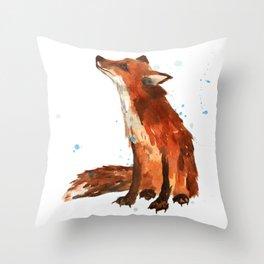 Mindful Fox Throw Pillow