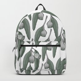 Silver Gum Pattern with a white background Backpack