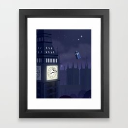 Second Star to the Right, Straight on to Gallifrey Framed Art Print