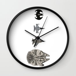 Flying Machines Wall Clock