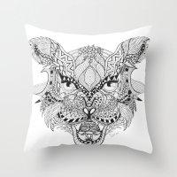 apollo Throw Pillows featuring Apollo by Suzi Liew Sitai