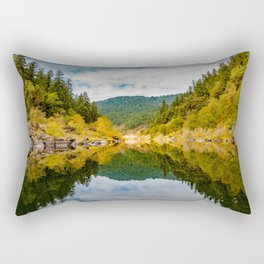 Rocky Fall Reflections Rectangular Pillow