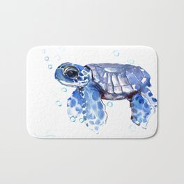 Baby Blue Turtle Bath Mat