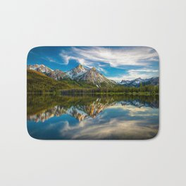 Sawtooth Range Morning Reflection Bath Mat